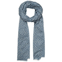 Buy Seasalt Exclusive Anchor Check Cotton Scarf, Indigo Online at johnlewis.com