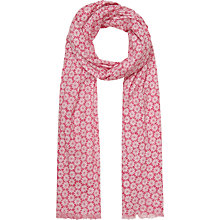 Buy Seasalt Exclusive Poppy Stars Cotton Scarf, Pink Online at johnlewis.com
