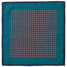 Buy John Lewis Vintage Tile Print Silk Pocket Square Online at johnlewis.com