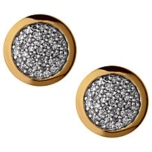 Buy Links of London Diamond Essentials 18ct Gold Plated Diamond Pave Round Stud Earrings Online at johnlewis.com