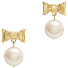Buy kate spade new york Gold Plated Faux Pearl Wrapped Up Drop Earrings, Gold Online at johnlewis.com