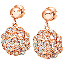 Buy Folli Follie Santorini Flower Drop Earrings, Rose Gold Online at johnlewis.com