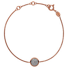 Buy Links of London Diamond Essentials 18ct Rose Gold Plated Diamond Pave Round Chain Bracelet, Rose Gold Online at johnlewis.com