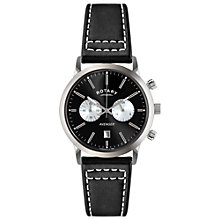 Buy Rotary Men's Avenger Sport Chronograph Leather Strap Watch Online at johnlewis.com