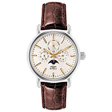 Buy Rotary GS90135/32 Men's Les Originales Greenwich Leather Strap Watch Online at johnlewis.com