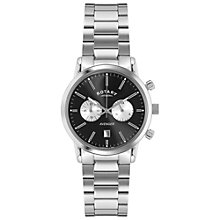Buy Rotary GB02730/04 Men's Stainless Steel Sports Avenger Bracelet Strap Watch, Silver/Black Online at johnlewis.com