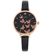 Buy kate spade new york Women's Novelty Metro Butterfly Leather Strap Watch Online at johnlewis.com
