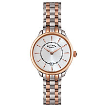 Buy Rotary LB02917/02 Women's Elise Two Tone Bracelet Strap Watch, Rose Gold/Silver Online at johnlewis.com