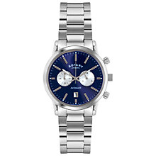 Buy Rotary GB02730/05 Men's Sports Avenger Chronograph Stainless Steel Bracelet Strap Watch, Silver/Blue Online at johnlewis.com