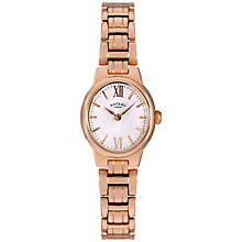 Buy Rotary LB02749/01 Women's Olivie Stainless Steel Bracelet Strap Watch, Rose Gold/White Online at johnlewis.com