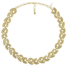 Buy Eclectica Vintage 1950s Trifari Leaf Necklace, Gold Online at johnlewis.com