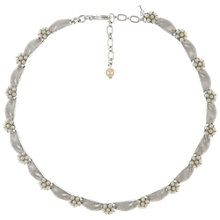 Buy Eclectica Vintage 1950s Trifari Faux Pearl Ribbon Necklace, Silver Online at johnlewis.com