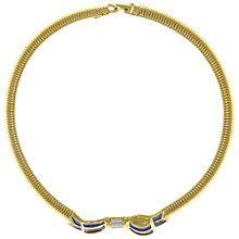 Buy Eclectica Vintage 1980s Trifari Collar Bow Necklace, Purple/Blue Online at johnlewis.com
