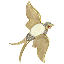 Buy Eclectica Vintage 1960s Trifari Soaring Bird Brooch, Gold/Grey Online at johnlewis.com