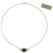 Buy Eclectica Vintage 1970s Givenchy Swarovski Crystal Chain Necklace, Silver/Brown Online at johnlewis.com