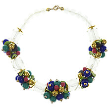 Buy Eclectica Vintage 1980s Chunky Statement Bead Cluster Necklace, Multi Online at johnlewis.com
