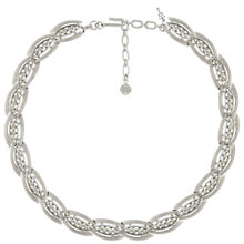 Buy Eclectica Vintage 1950s Trifari Swarovski Crystal Necklace, Silver Online at johnlewis.com