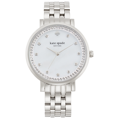 kate spade new york 1YRU0820 Women's Monterey Bracelet Strap Watch, Silver