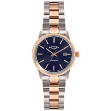 Buy Rotary LB02737/05 Women's Avenger Two Tone Bracelet Strap Watch, Rose Gold/Silver Online at johnlewis.com