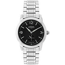Buy Rotary GB02700/04 Men's Cambridge Stainless Steel Bracelet Strap Watch, Silver/Black Online at johnlewis.com