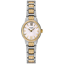 Buy Rotary LB02747/01 Women's Olivie Two Tone Bracelet Strap Watch, Gold/Silver Online at johnlewis.com