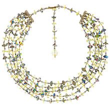 Buy Eclectica Vintage 1960s Austrian Crystal Strand Necklace, Yellow/Grey Online at johnlewis.com