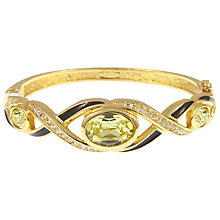 Buy Eclectica Vintage Dior Yellow Swarovski Crystal Bracelet, Gold Online at johnlewis.com