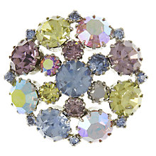 Buy Eclectica Vintage 1950s Glass Stone Brooch, Lilac/Yellow Online at johnlewis.com