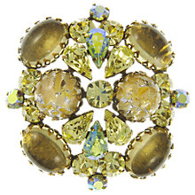 Buy Eclectica Vintage 1950s Regency Brooch, Yellow/Green Online at johnlewis.com