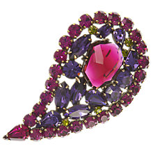 Buy Eclectica Vintage 1950s Weiss Austrian Crystal Brooch, Fuschia/Purple Online at johnlewis.com