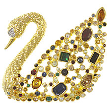 Buy Eclectica Vintage 1990s Swarovski Limited Edition Swan Brooch, Multi Online at johnlewis.com