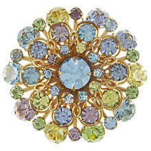 Buy Eclectica Vintage 1950s Pastel Glass Stone Brooch, Blue/Lilac Online at johnlewis.com