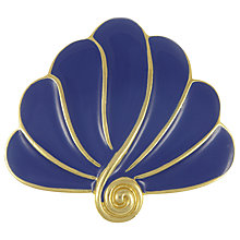 Buy Eclectica Vintage 1970s Trifari Abstract Brooch, Blue/Gold Online at johnlewis.com