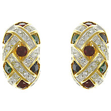 Buy Eclectica Vintage 1980s Glass Stone Clip-On Earrings, Multi Online at johnlewis.com