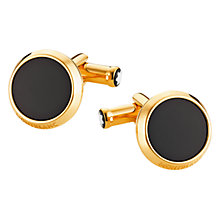 Buy Montblanc Iconic Onyx Cufflinks Online at johnlewis.com
