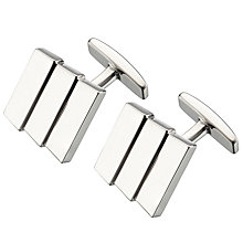 Buy BOSS Iwan Rectangle Cufflinks, Silver Online at johnlewis.com