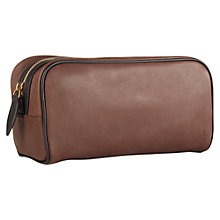 Buy Polo Ralph Lauren Smooth Leather Wash Bag Online at johnlewis.com