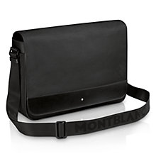 Buy Montblanc Nightflight Messenger Bag, Black Online at johnlewis.com