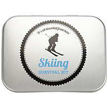 Buy John Lewis Ski Tin Survival Kit Gift Set, Silver Online at johnlewis.com