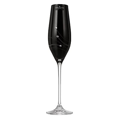Dartington Crystal Glitz Noir Crystal Glass Flute, Gift Boxed