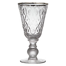 Buy John Lewis Wine Glass With Platinum Online at johnlewis.com
