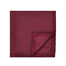 Buy HUGO Polka Dot Silk Pocket Square Online at johnlewis.com