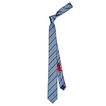 Buy HUGO Pin Dot Stripe Slim Silk Tie Online at johnlewis.com