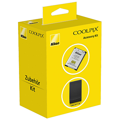Nikon Accessory Kit with Leather Case & EN-EL19 Rechargeable Battery for COOLPIX S7000