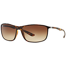 Buy Ray-Ban RB4231 Geometric Rectangular Sunglasses, Brown Online at johnlewis.com