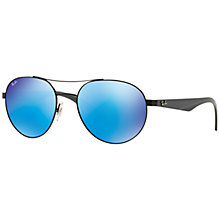 Buy Ray-Ban RB3536 Pilot Aviator Sunglasses, Black/Grey Online at johnlewis.com