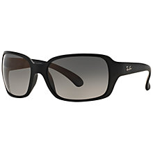 Buy Ray-Ban RB4068 Square Sunglasses, Black Online at johnlewis.com