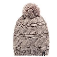 Buy The North Face Triple Cable Pom Beanie, One Size, Silver Online at johnlewis.com