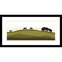 Buy Jacky Al-Samarraie - Horses On A Hill, Framed Print, 44 x 84cm Online at johnlewis.com
