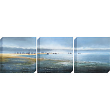 Buy Michael Sanders - Boat on the Sandbank, Canvas Triptych, 40 x 40cm Online at johnlewis.com